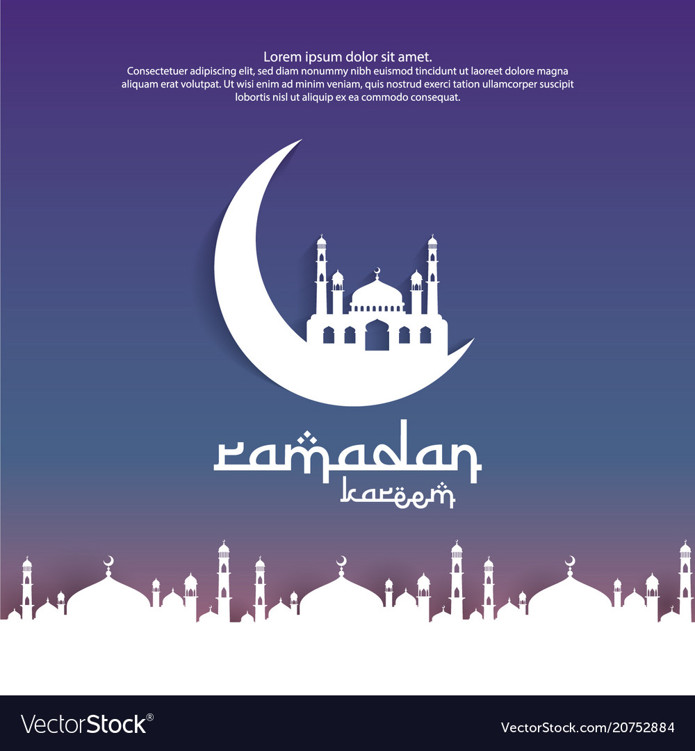 Ramadan kareem islamic greeting card design with vector image m4hsunfo Choice Image