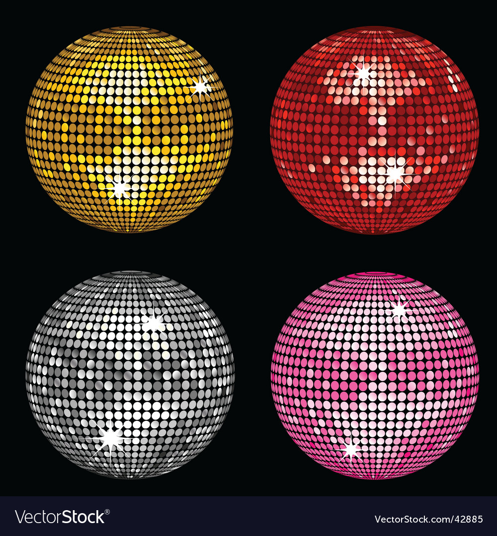 Disco balls vector image