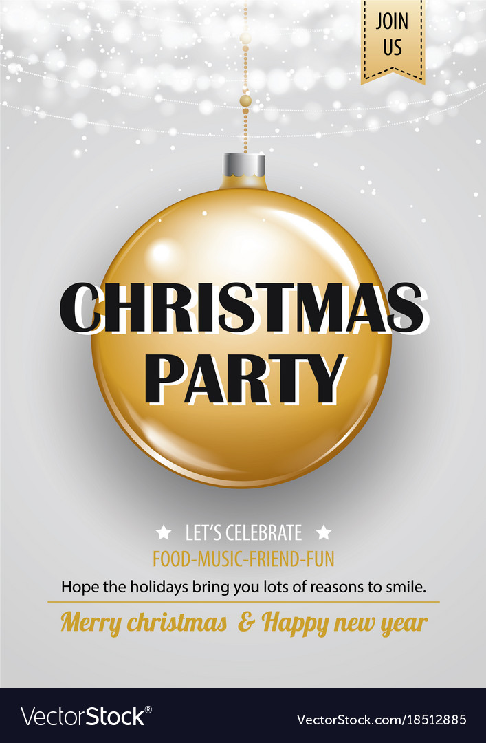 Invitation merry christmas party poster banner vector image invitation merry christmas party poster banner vector image stopboris Image collections