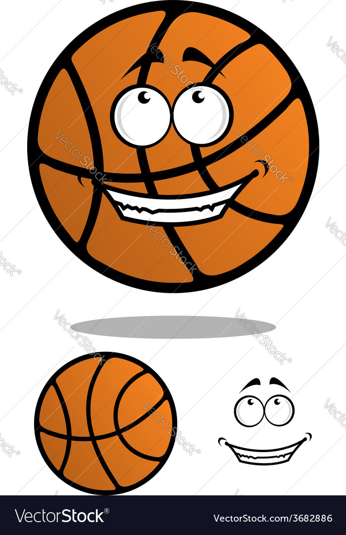 Cartoon classic orange basketball ball vector image