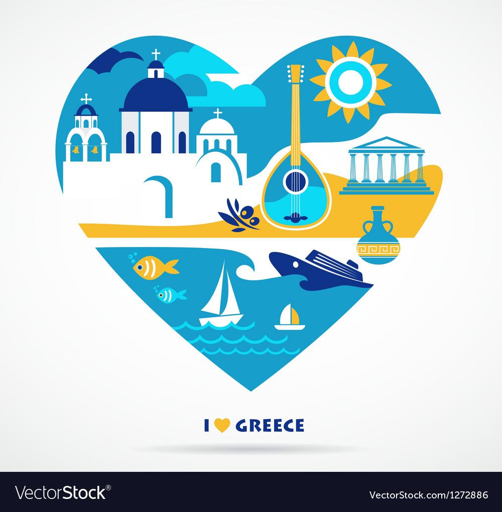 Greece love vector image