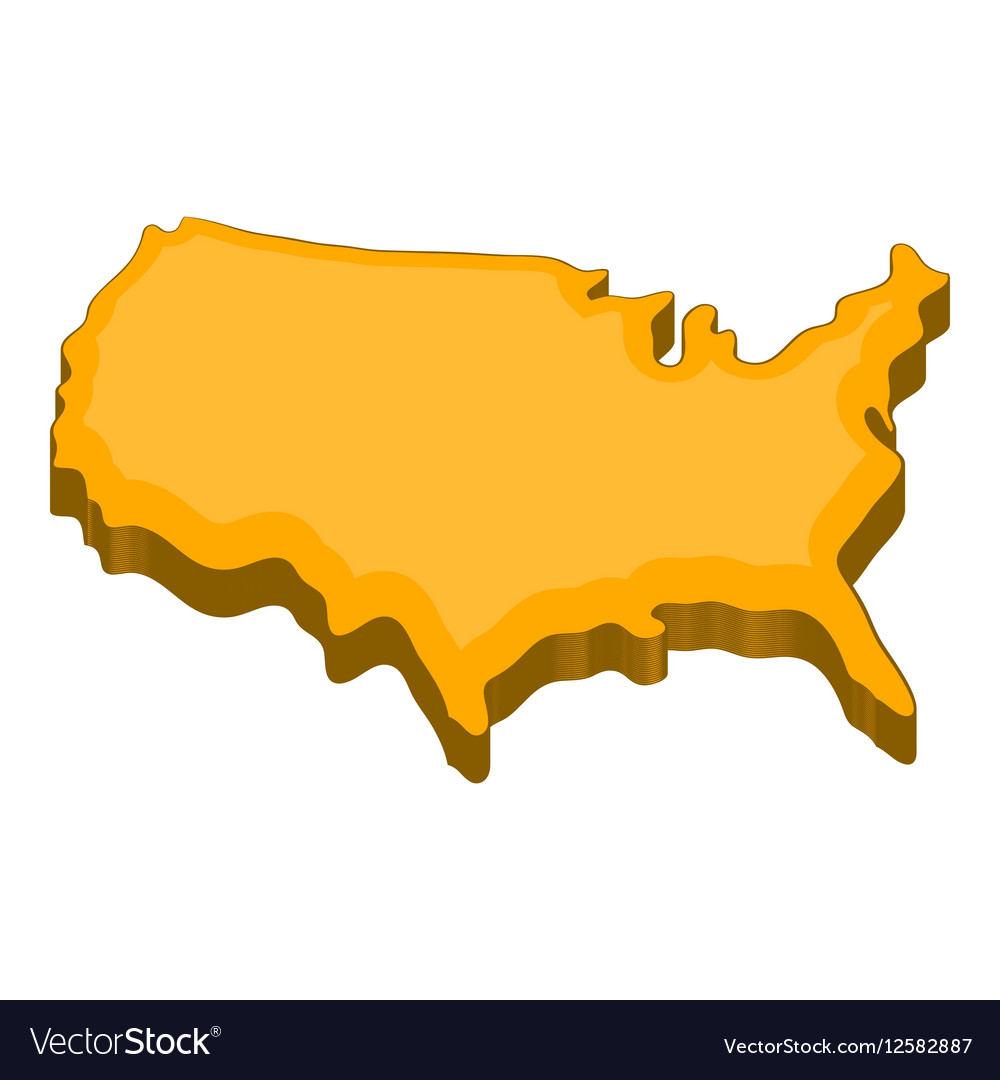 American map icon cartoon style vector image