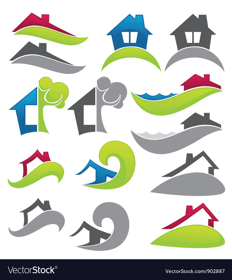 Real estate and property vector image