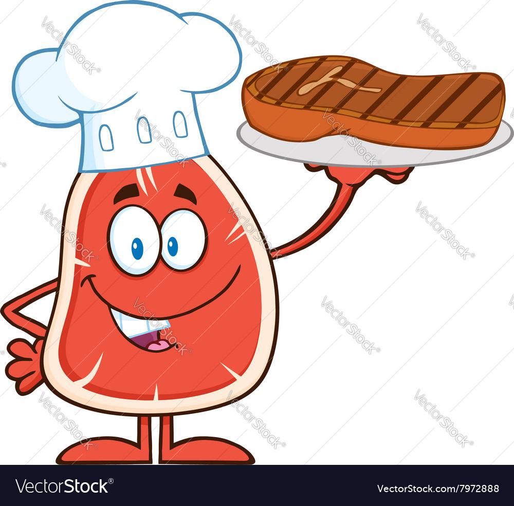 Chef Steak Cartoon vector image