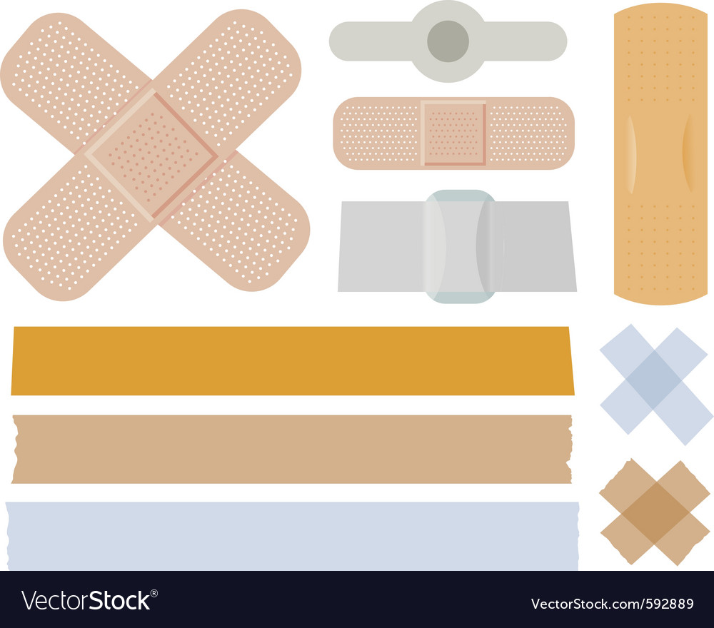 Bandages collection Vector Image