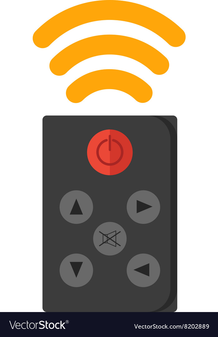 Remote control tool television technology vector image