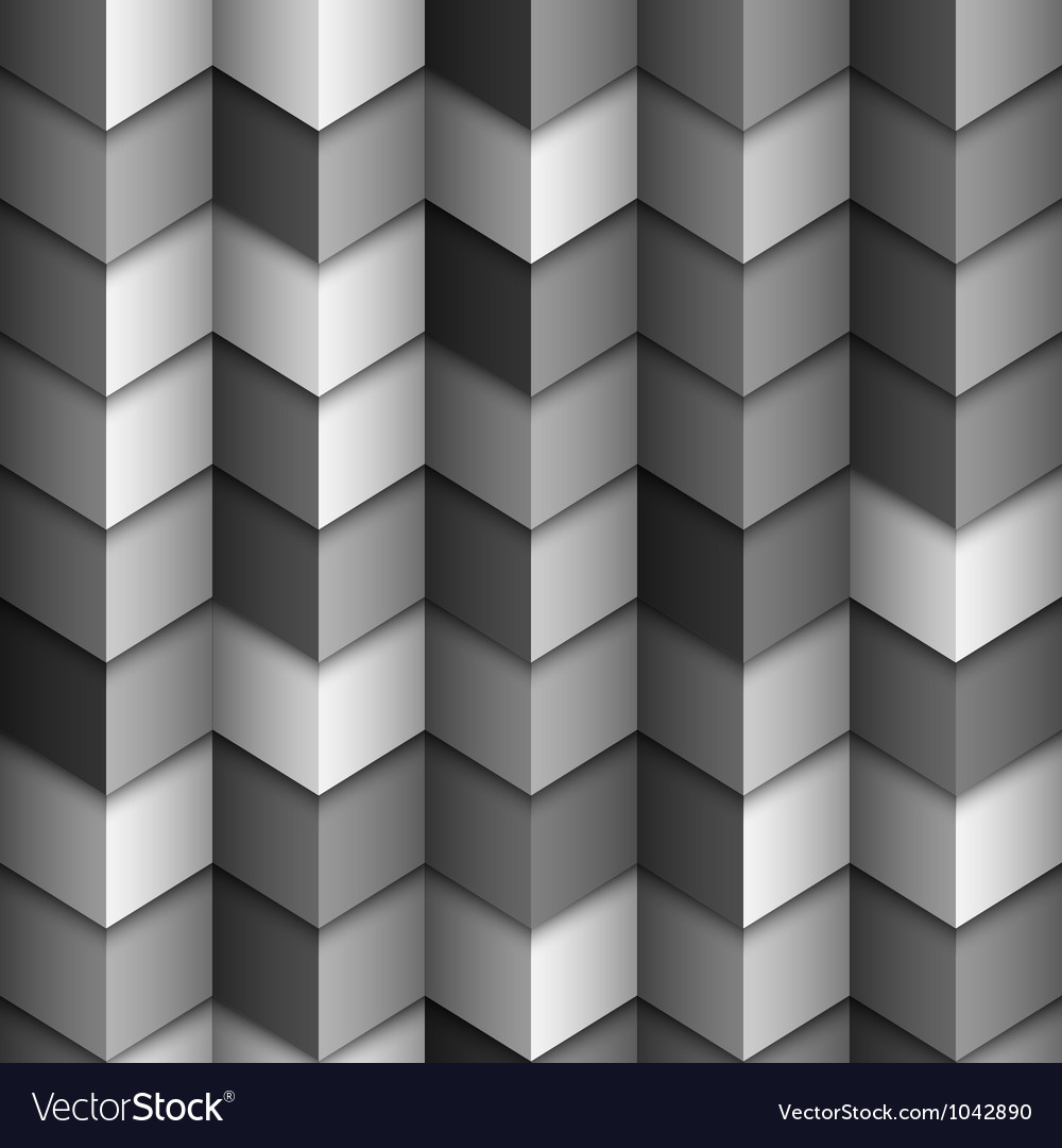 Monochromatic geometric structured background vector image