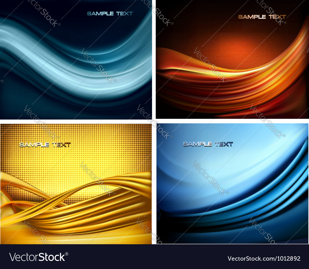 Set of business elegant colorful abstract vector image