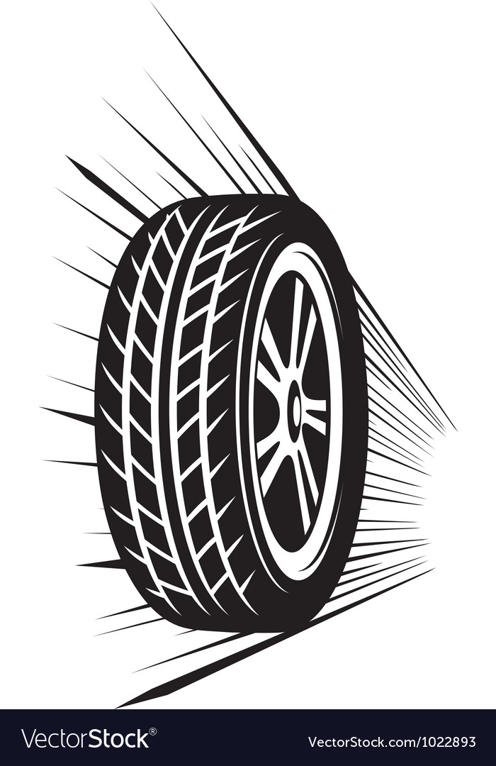 Wheel tyre vector image