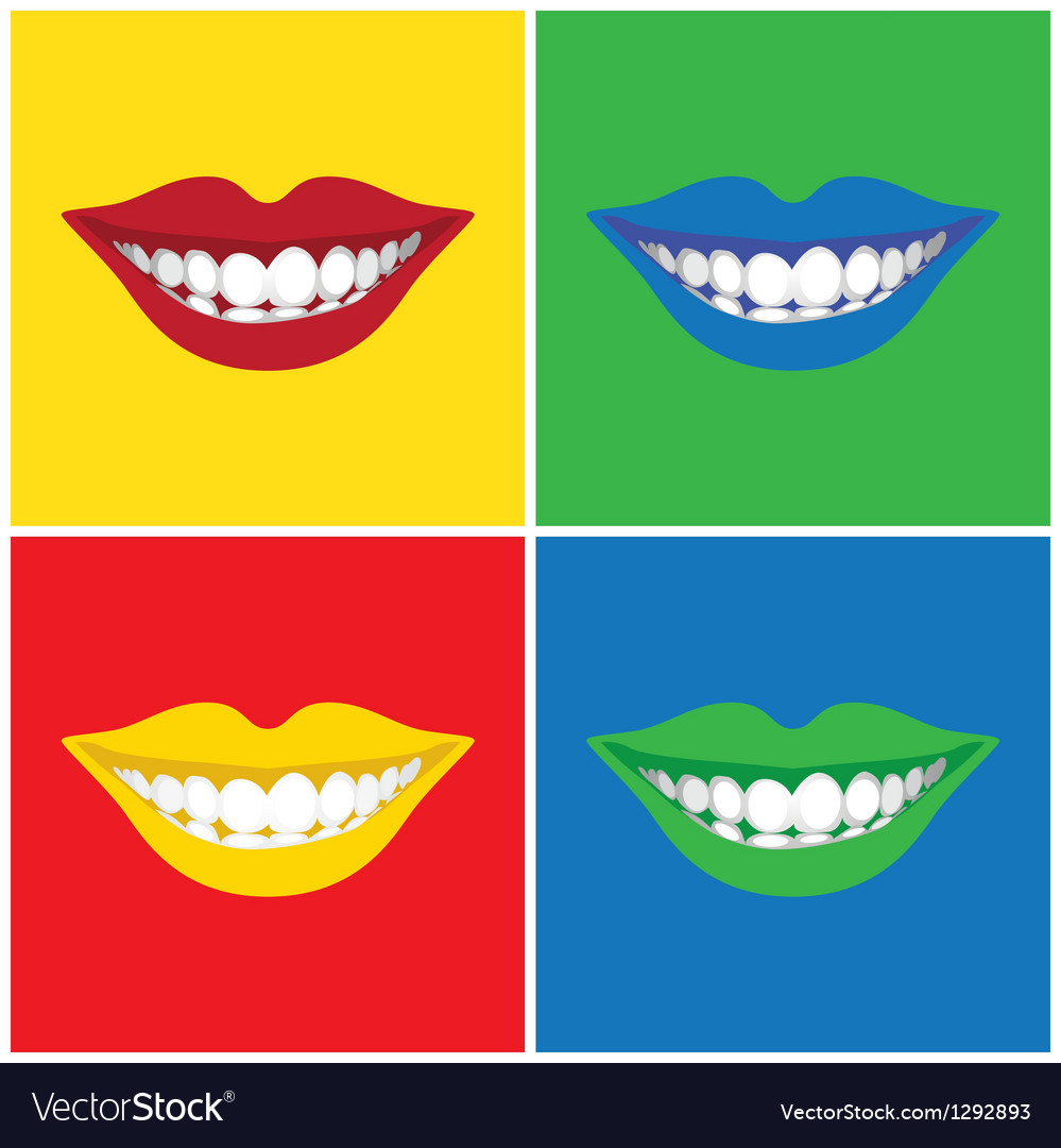 Pop art mouth vector image