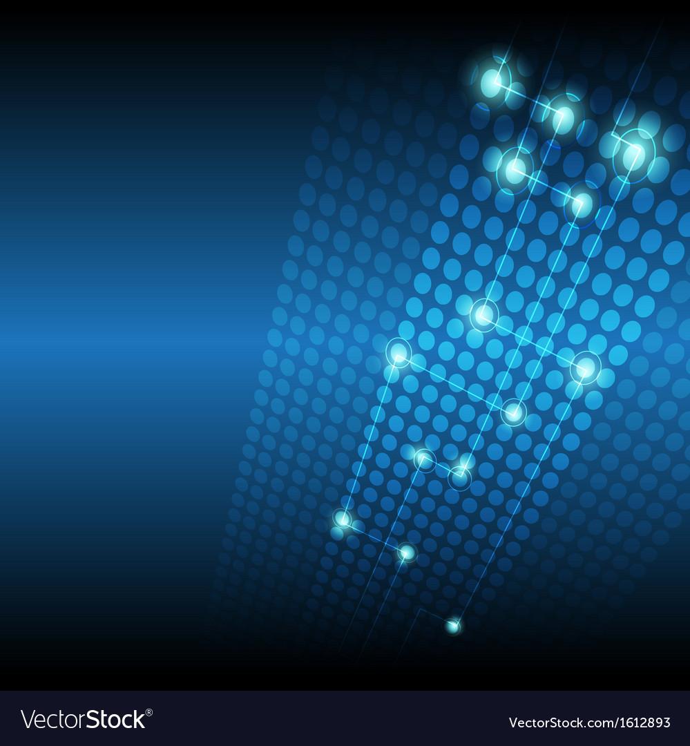 Digital network technology background vector image