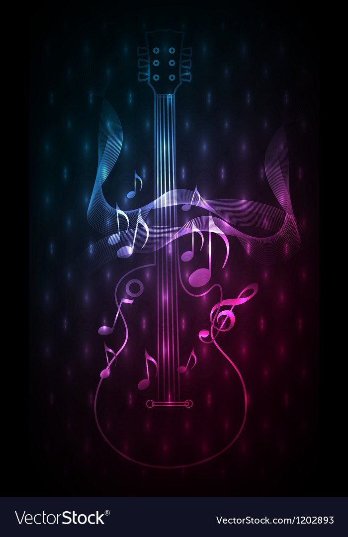 Abstract blue red music instrument vector image