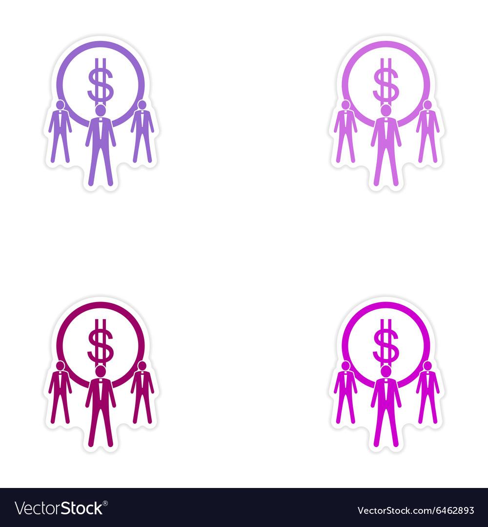 paper sticker on stylish background coins finance
