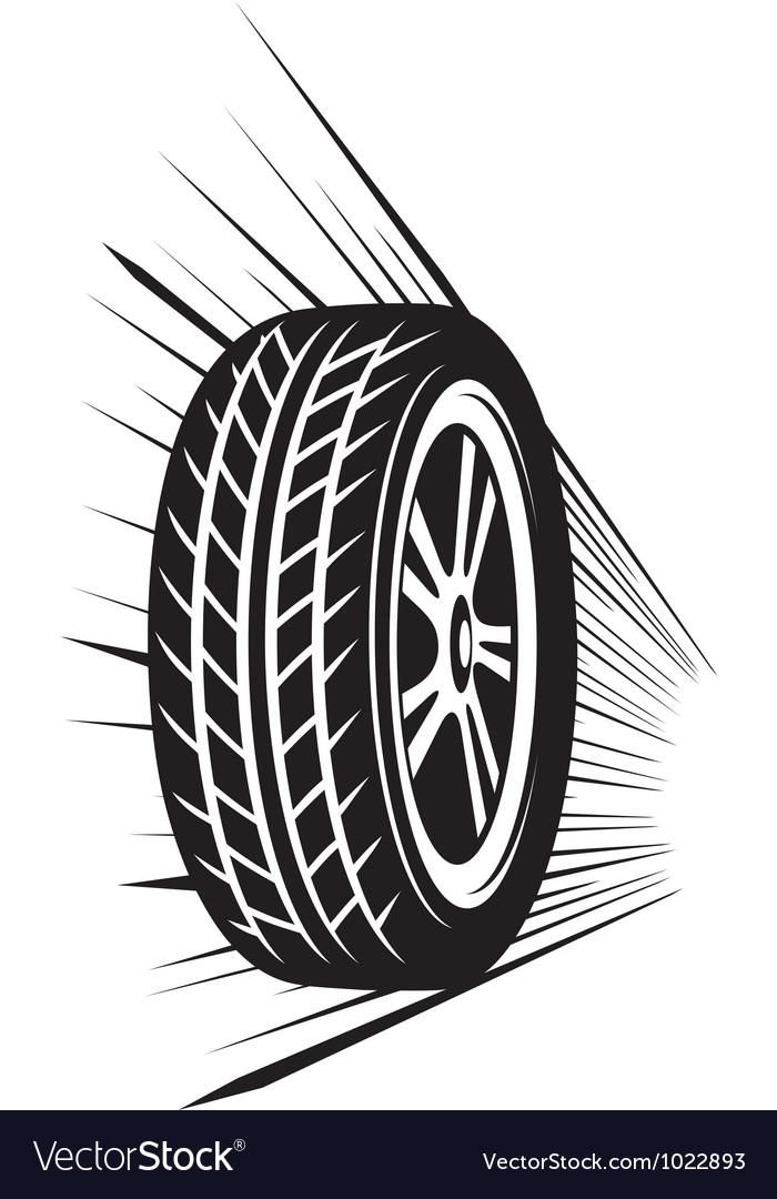 Wheel tyre vector image