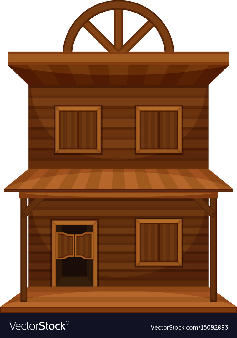 Wild west building made of wood vector image