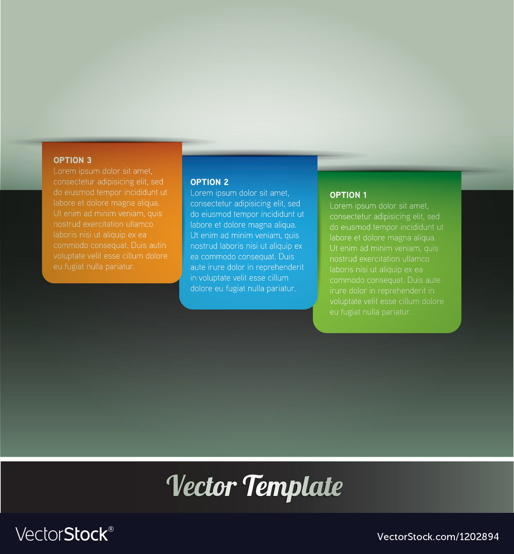 Tab Option Page Template Vector Image