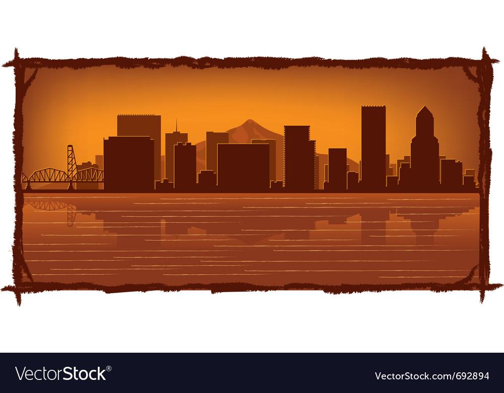 Portland skyline vector image