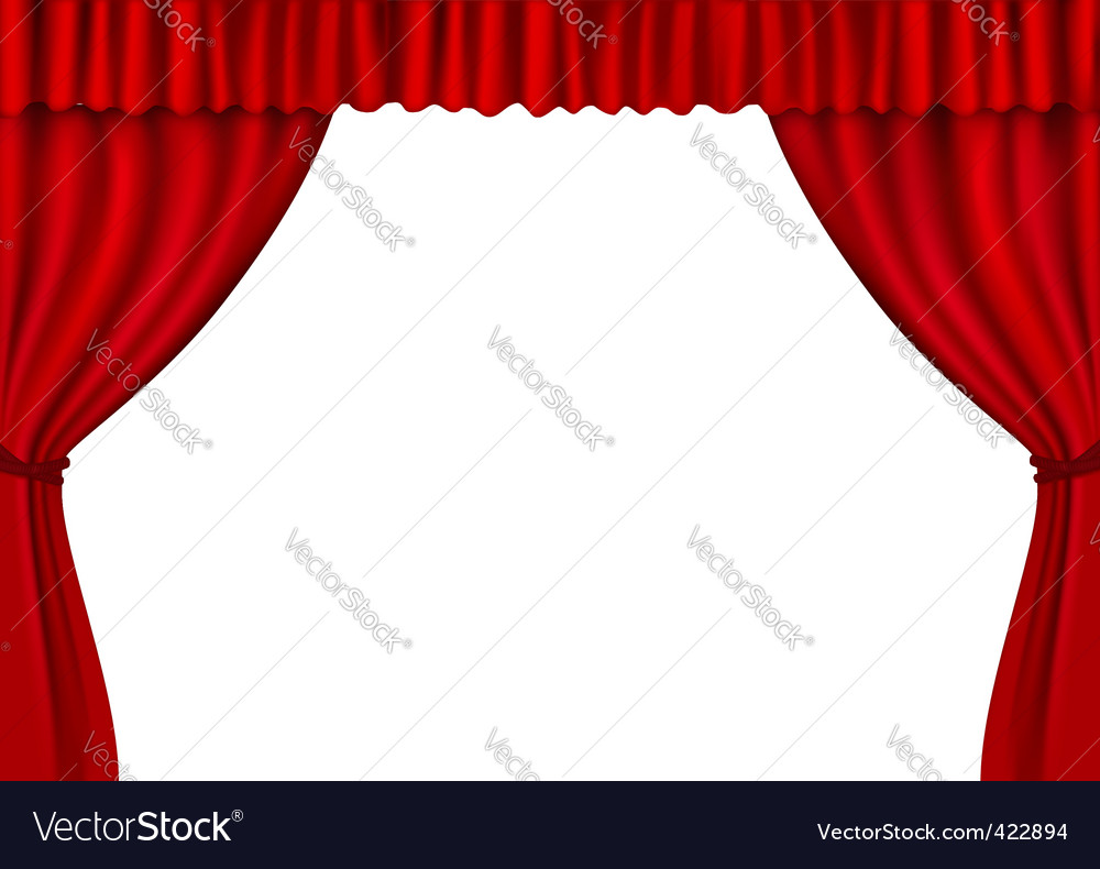 Blue stage curtains blue stage curtain vector free vector in - Red Stage Curtains Vector Image
