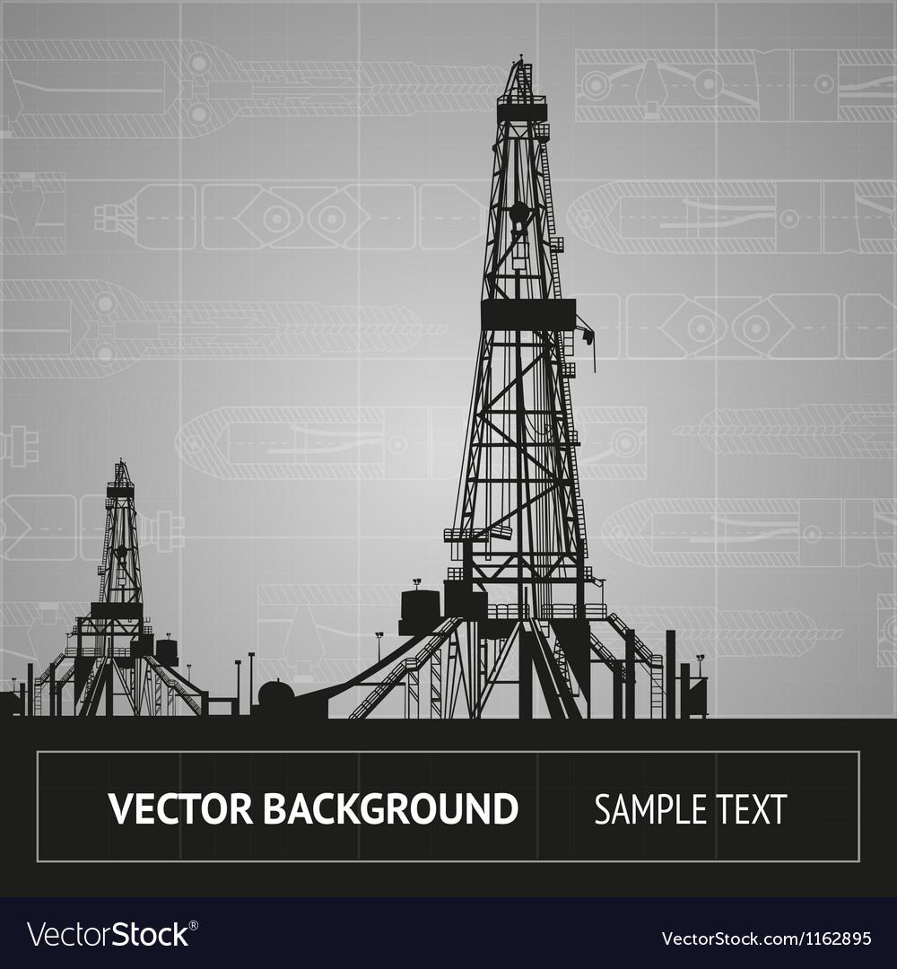 Sketch of oil rig Vector Image