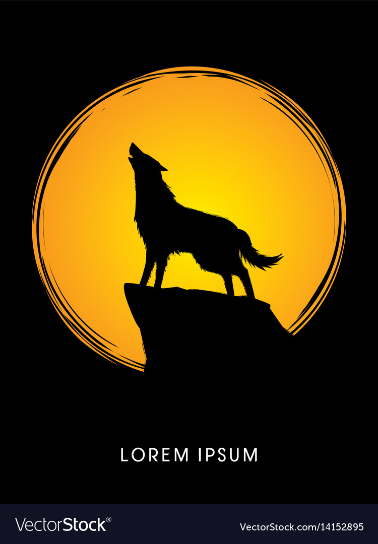 Wolf howling vector image