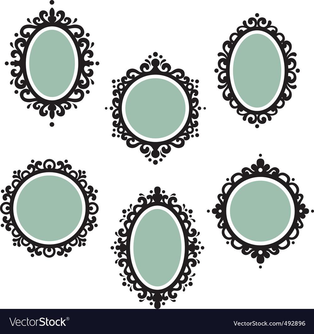 Antique frames vector image