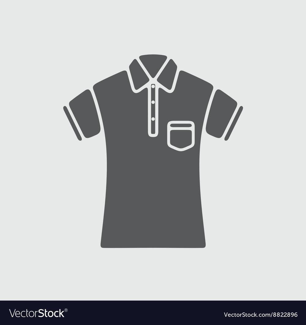 Polo t-shirt icon vector image