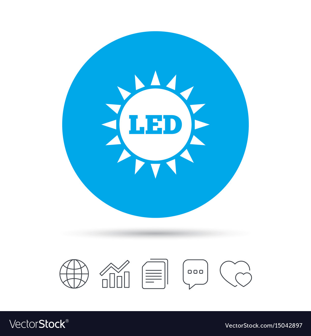 Led light sun icon energy symbol royalty free vector image led light sun icon energy symbol vector image biocorpaavc Images