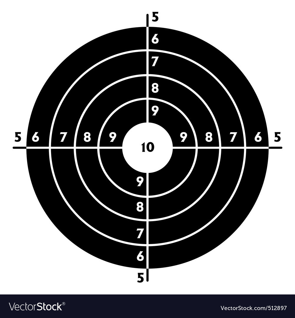 Target for shooting practice vector image