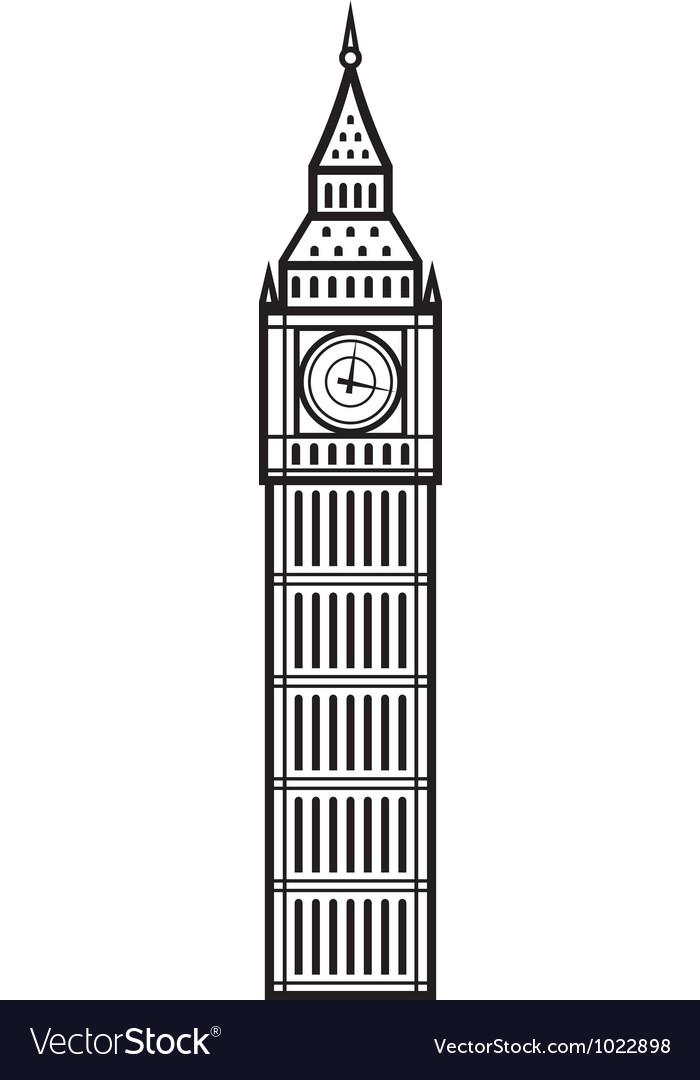 Big Ben vector image