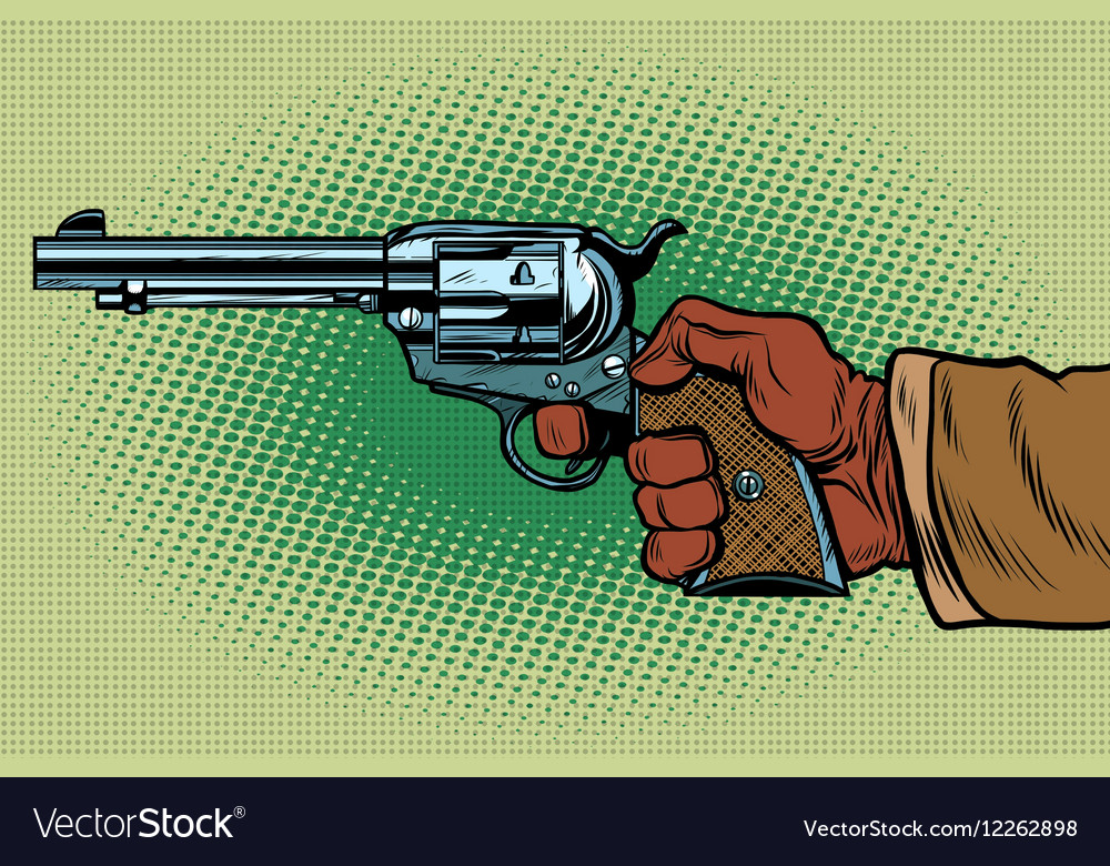 Shot Western Wild West vector image