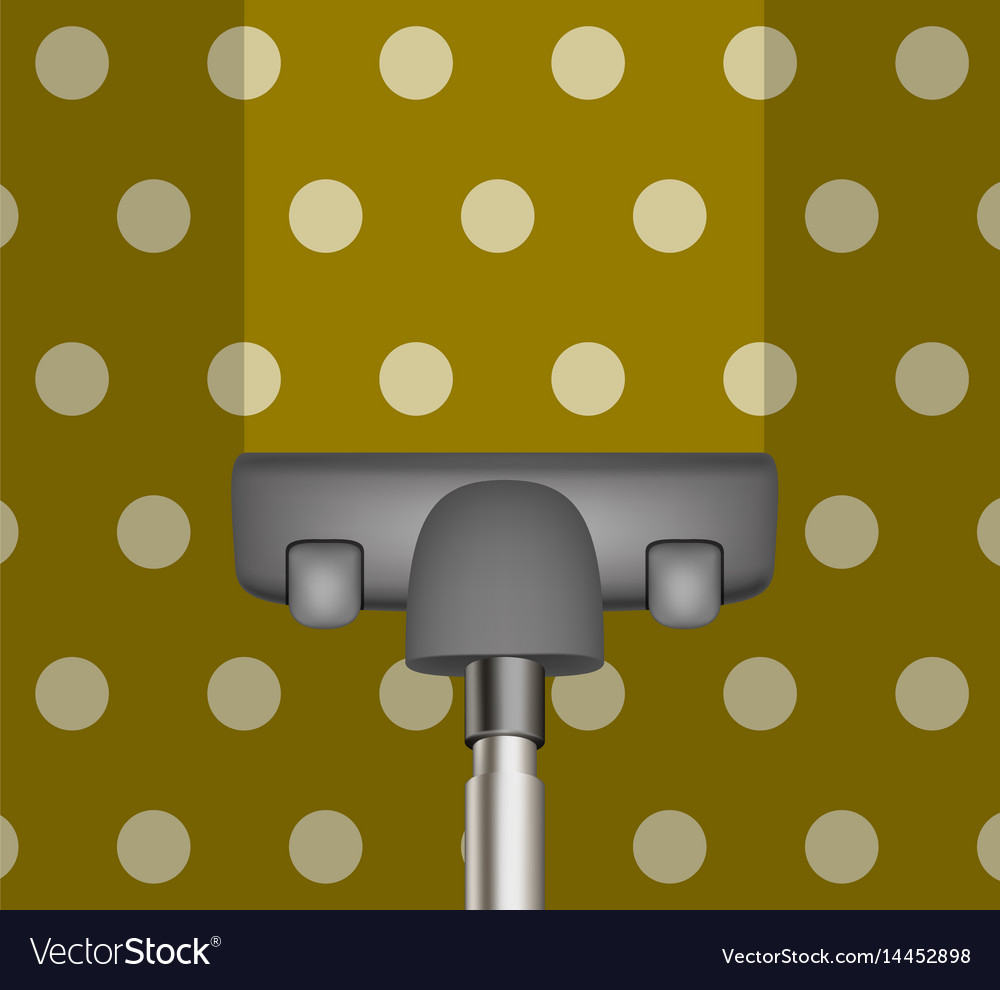 Vacuum cleaner drains brown carpet vector image