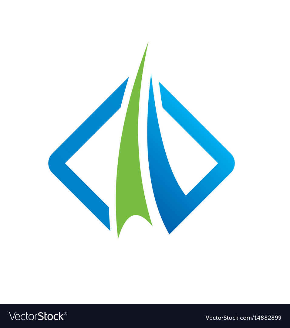 Finance Logo: Square Abstract Arrow Business Finance Logo Royalty Free