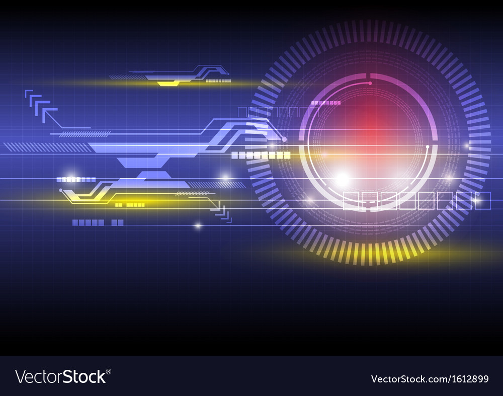 Digital technology background Vector Image