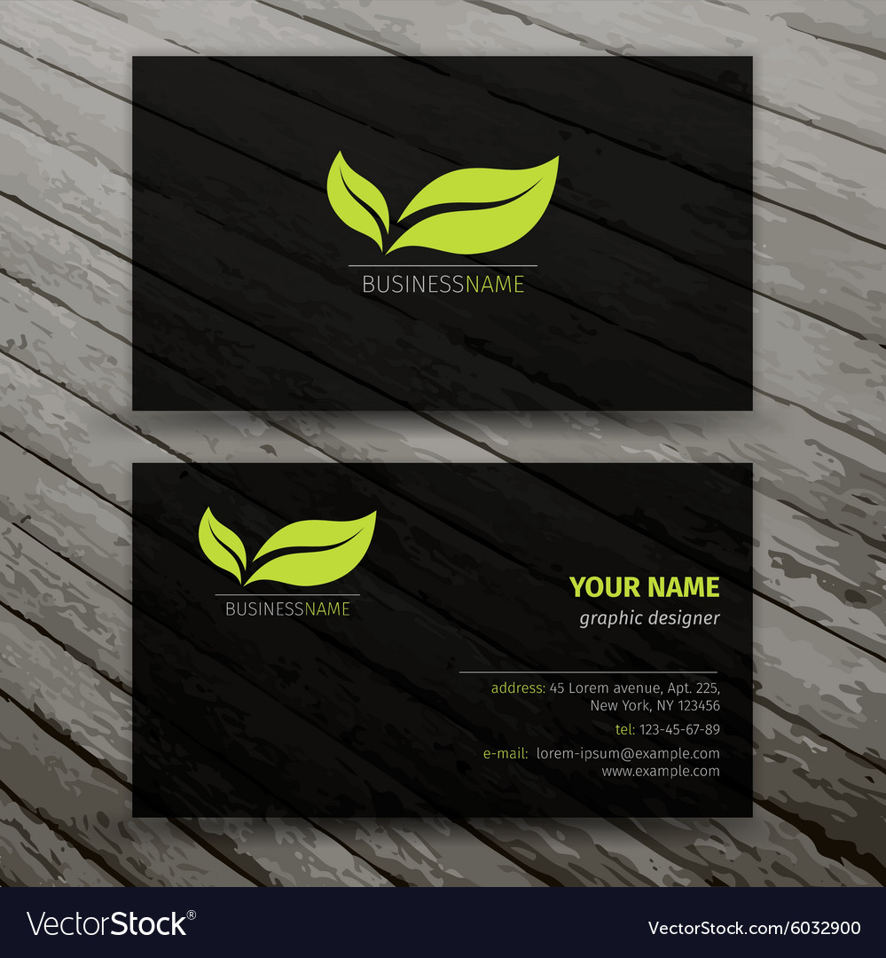 Modern Business Cards Templates Set Royalty Free Vector