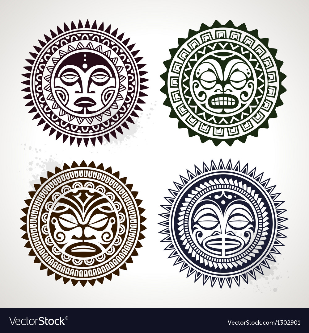 Polynesian Circle Patterns vector image