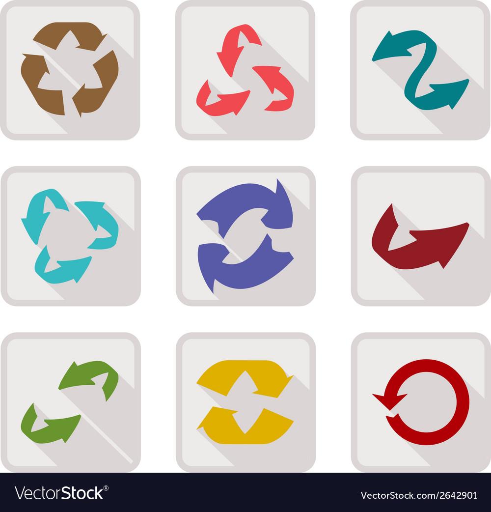Arrow set button vector image
