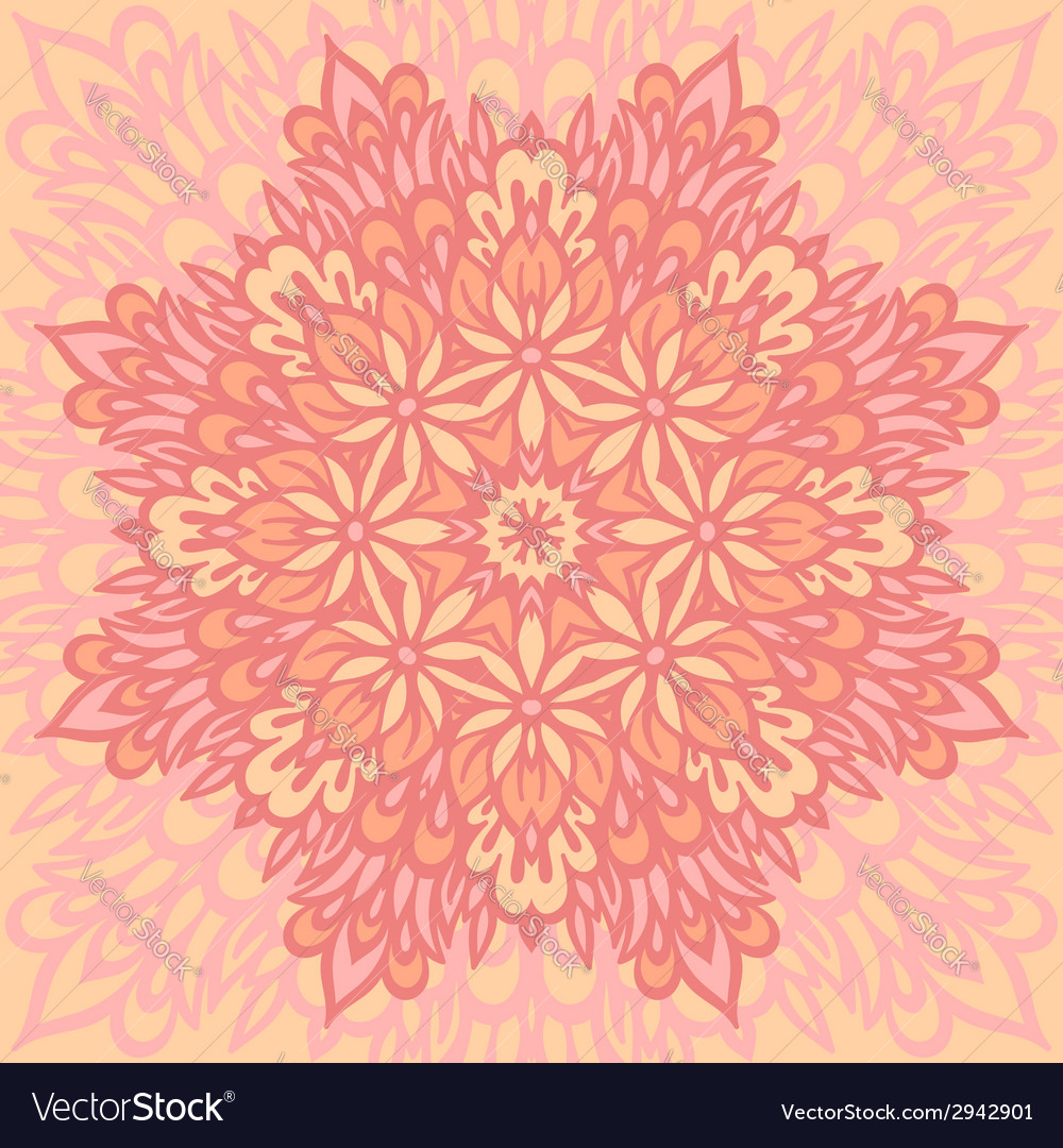 Flower Mandala Abstract background vector image