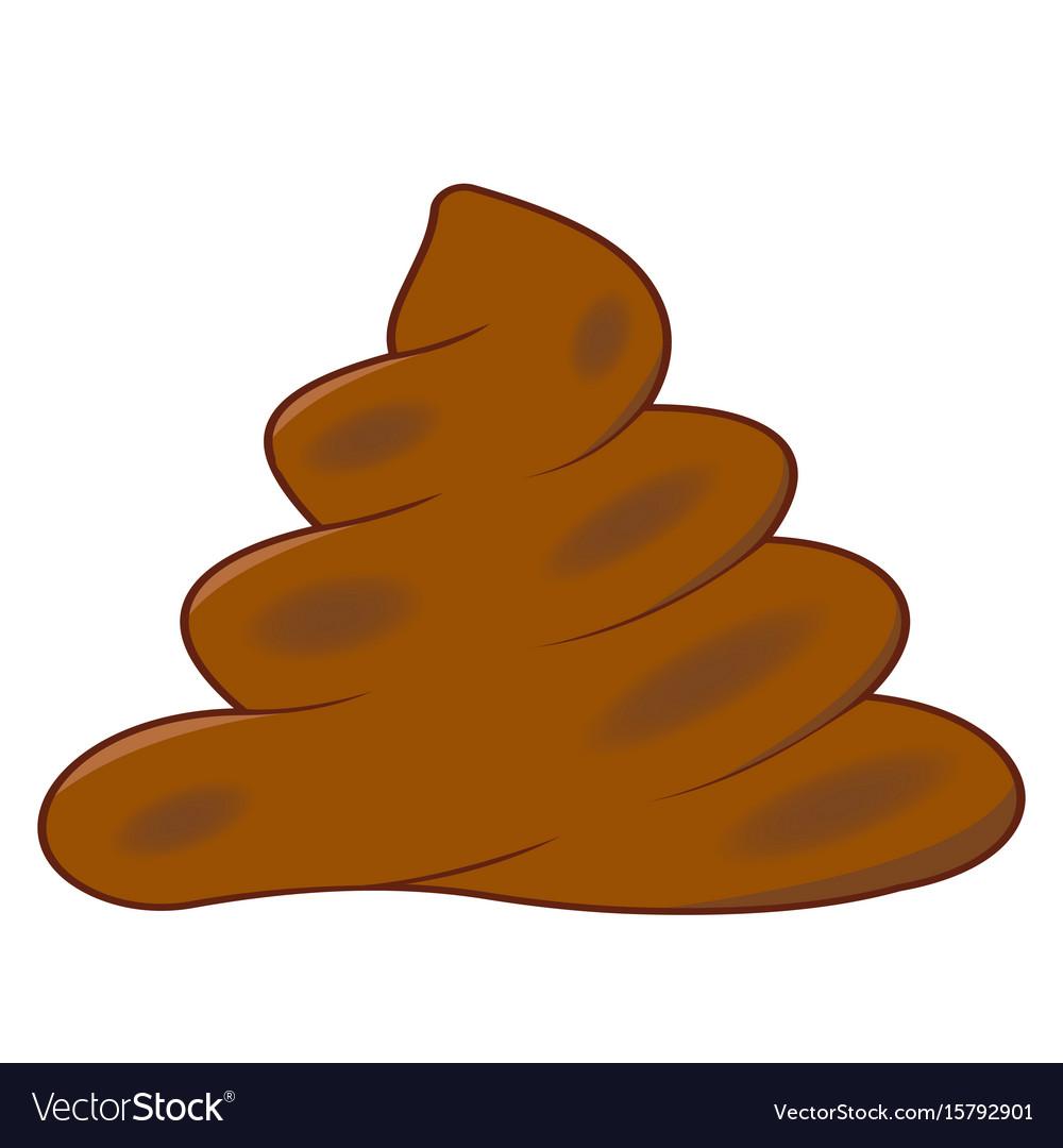 Realistic turd brown feces cartoon shit vector image