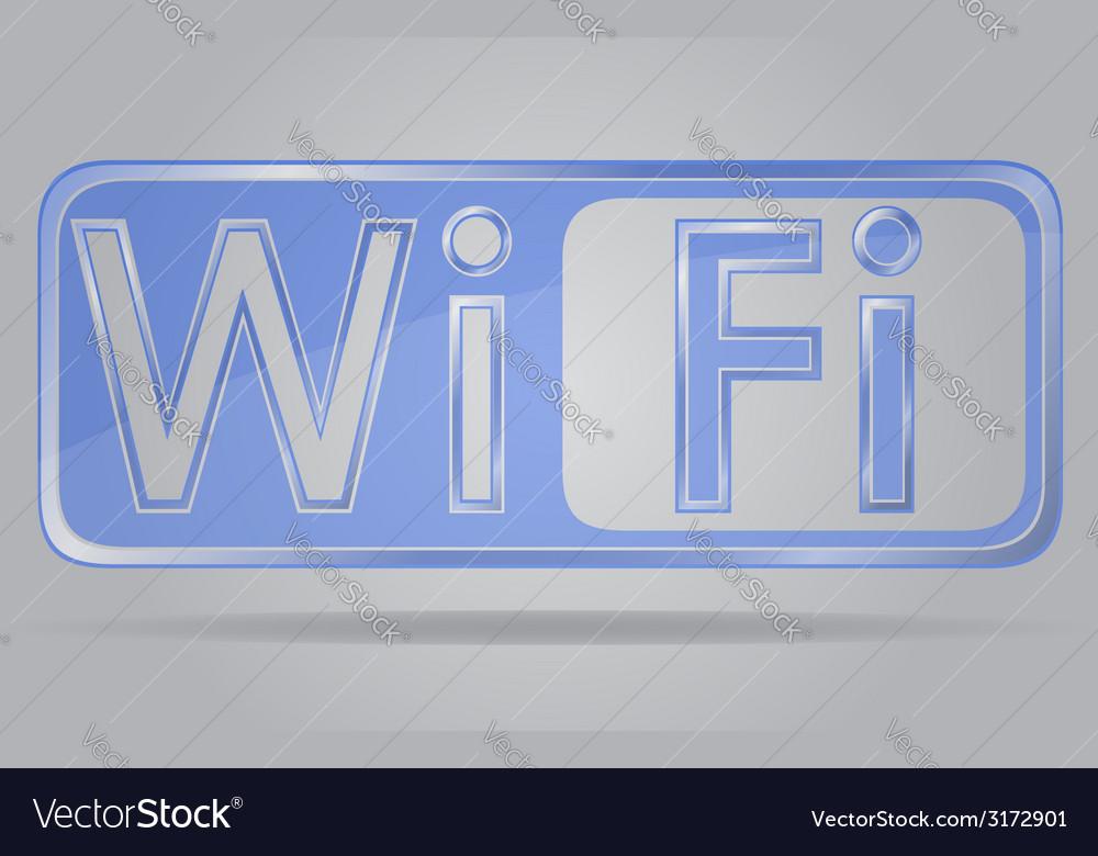 Transparent sign wi fi 02 vector image