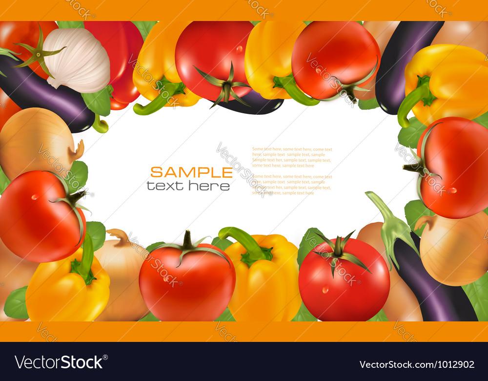 Frame made of vegetables vector image
