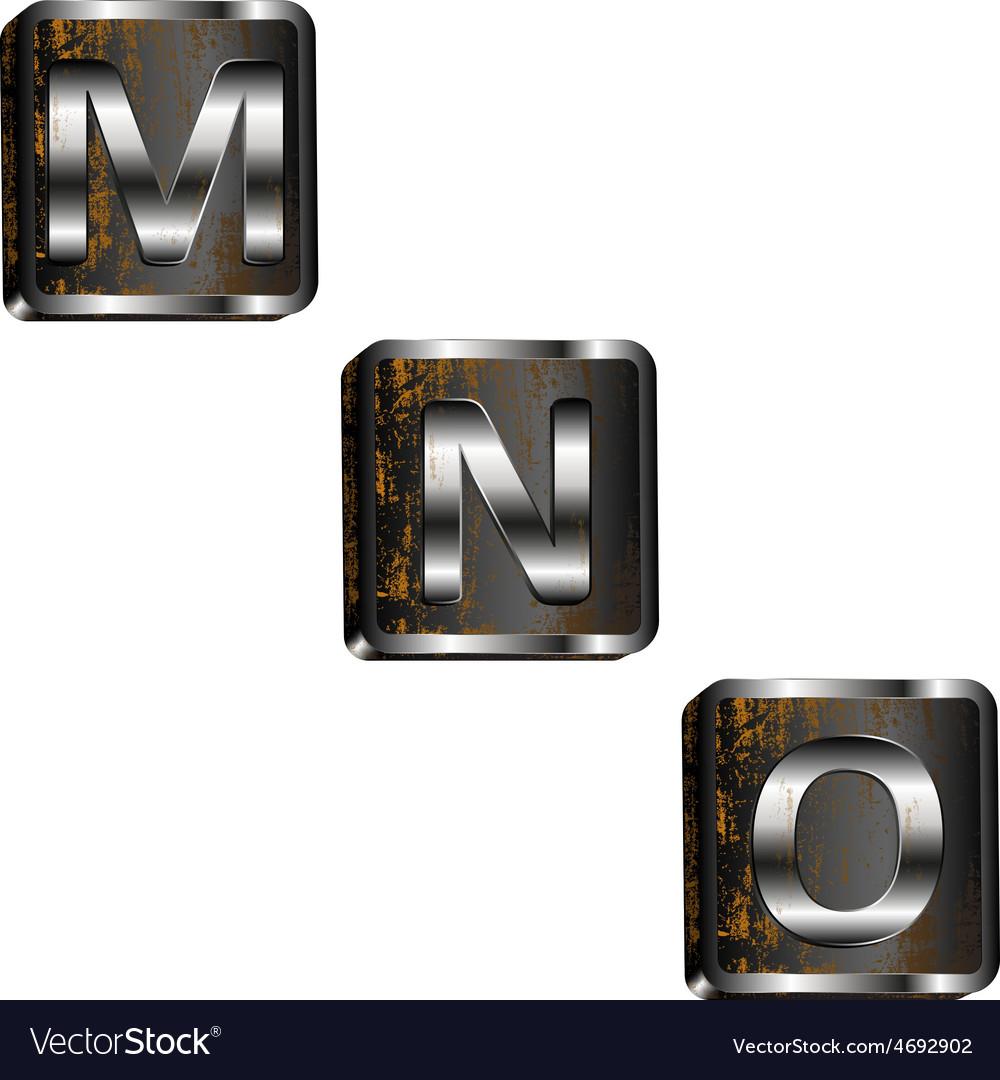 Mno iron letters vector image