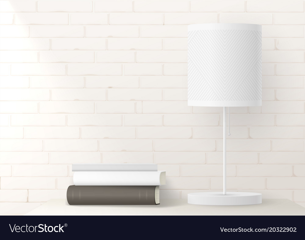 Mocap with bright floor lamp on brick wall vector image aloadofball Gallery