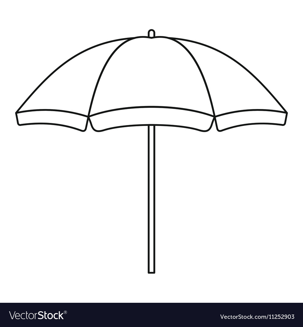Beach Umbrella Outline