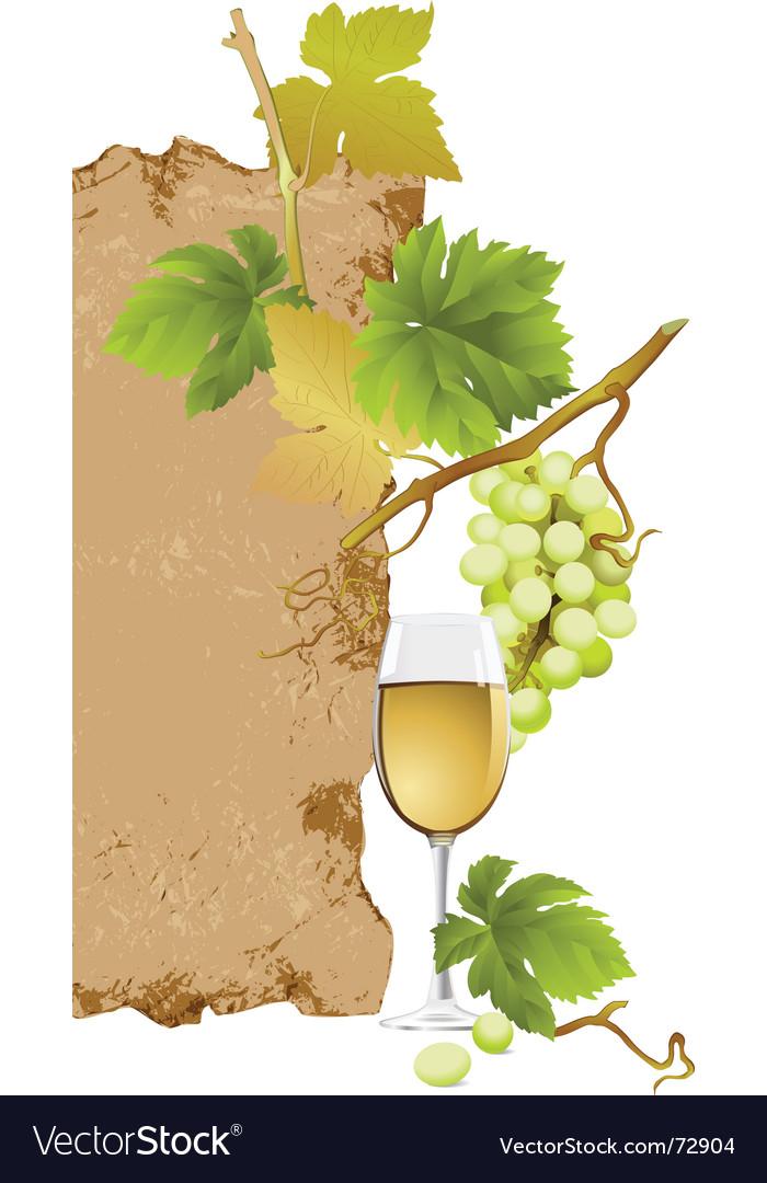 White wine vector image