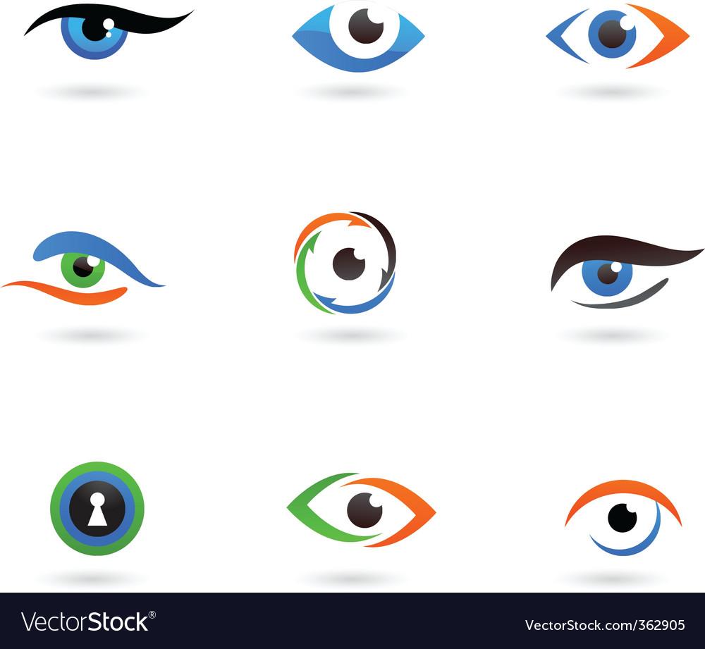 Eye logos vector image