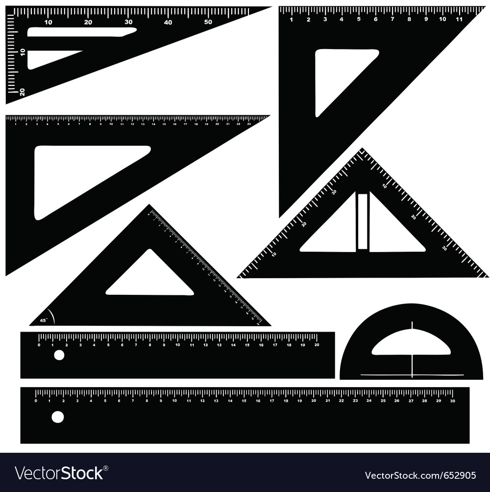 Technical drawing equipment vector image