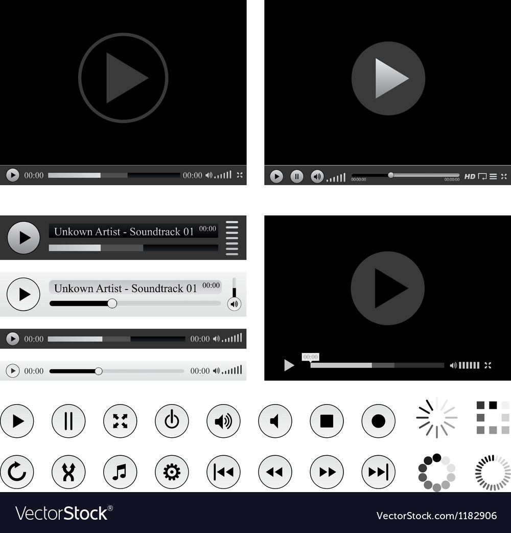 Media players vector image