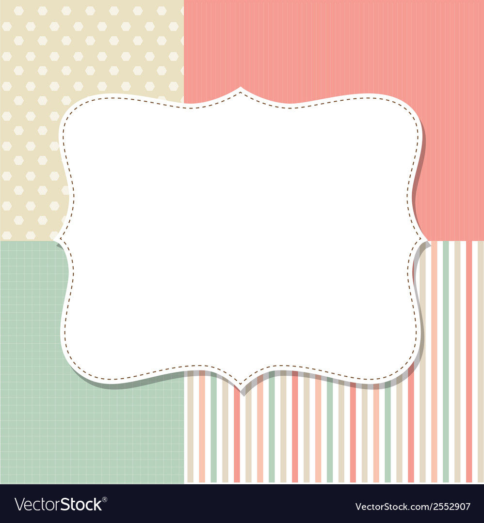 Template Greeting Card Royalty Free Stock Image: Cool Template Frame Design For Greeting Card Vector Image