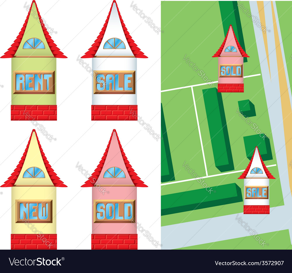 House shaped pointers vector image