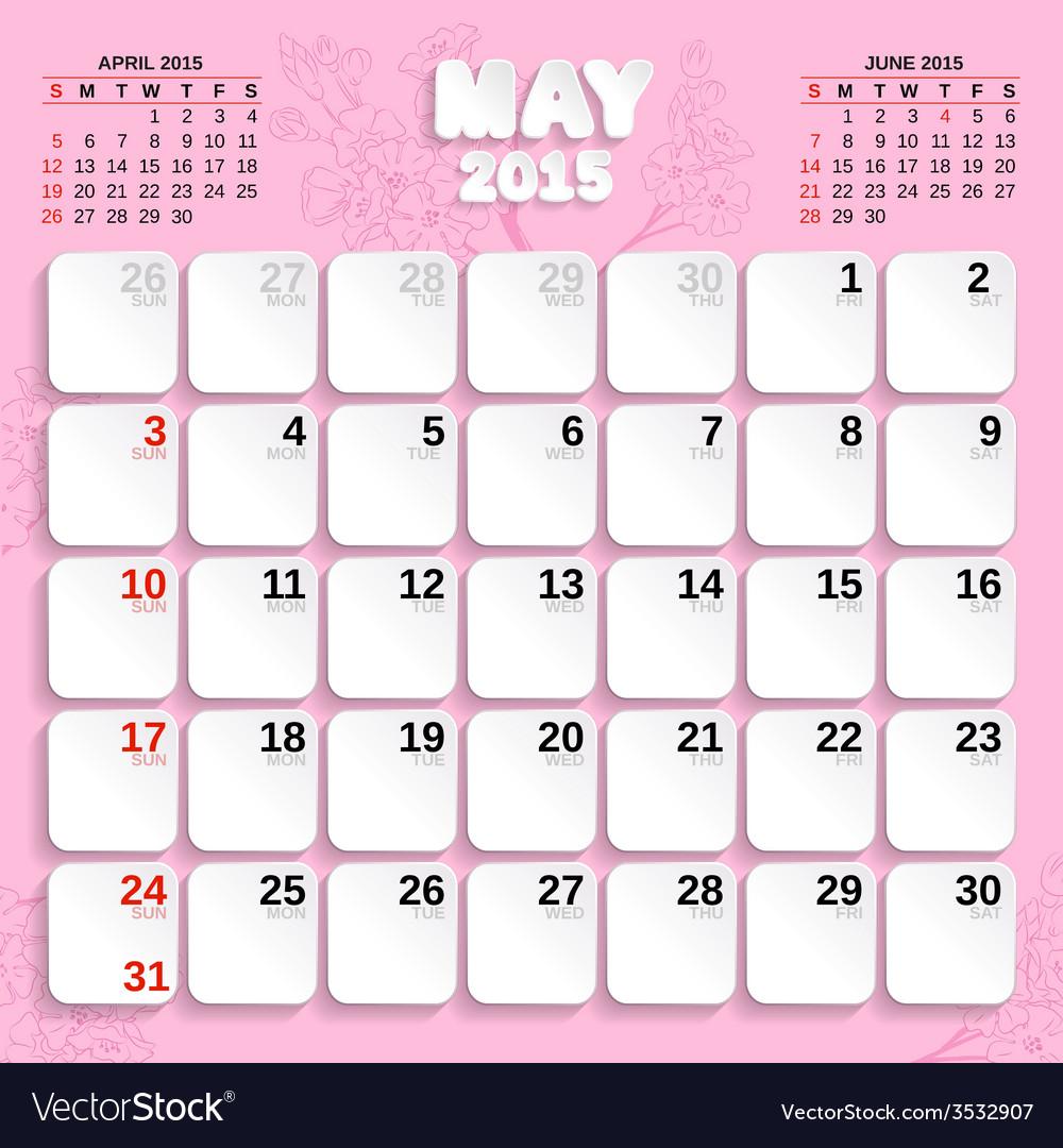 12 month calendar 2015